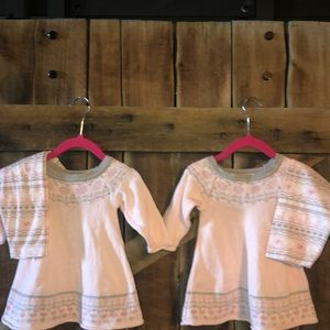 TWINS SET Snowflake/Heart Sweaters and leggings